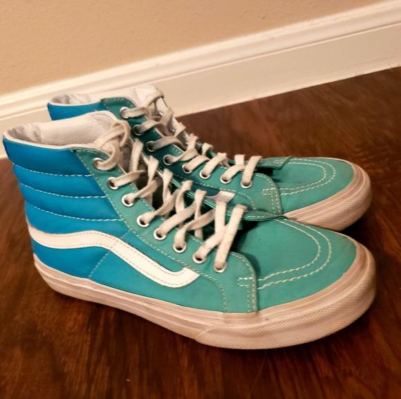 Vans Hightops Blue Ombre Skater Shoes
